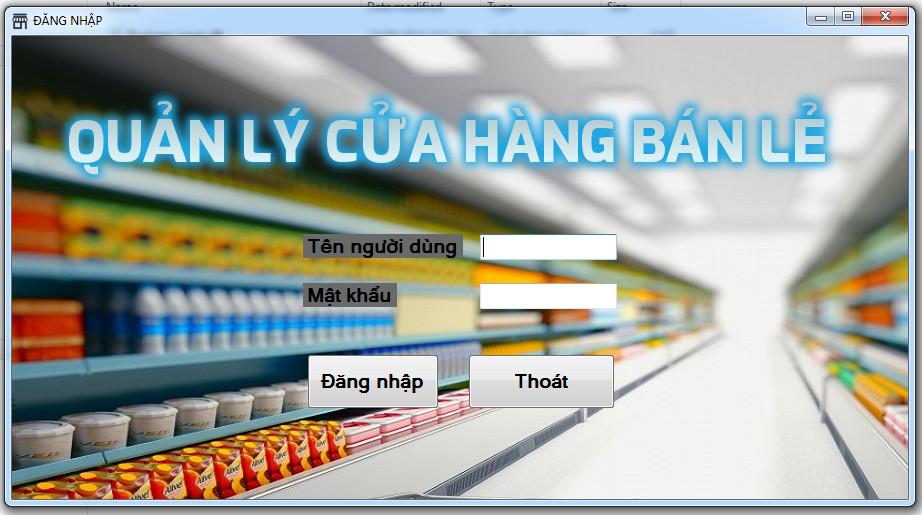 Free Code Đồ án quản lý cửa hàng bán lẻ C#