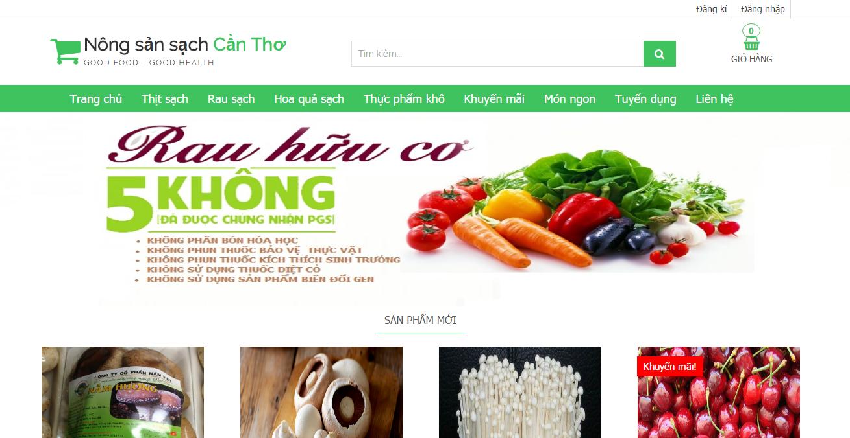 Website bán nông sản sạch viết bằng Laravel 5.2 Ajax Full code Báo cáo