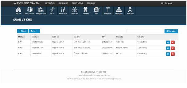 Phần mềm quản lý kho bán hàng nền web Laravel 5.0 Ajax Báo cáo đầy đủ