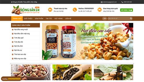 Source web nông sản hạt đều các loại rau củ quả
