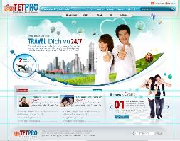 Template cho web du lịch và tổ chức sự kiện (cực đẹp) có PSD