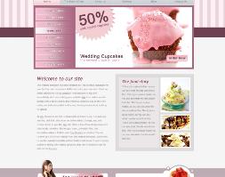Miễn phí website bán kem đẹp với màu hồng tinh tế