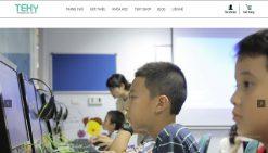 Website giới thiệu khóa học trung tâm anh ngữ