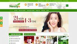 Website bán mỹ phẩm nessy green