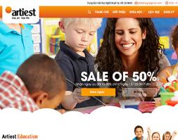 Website trung tâm anh ngữ khóa học đào tạo trường học