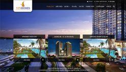 Website giới thiệu dự án bất động sản vinhome