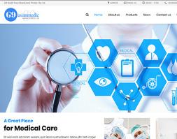 Website giới thiệu phòng khám bệnh viện thiết bị y tế
