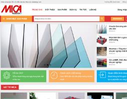 Website giới thiêu sản phẩm mica full source wordpress