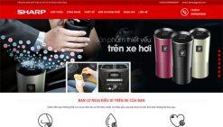 Website bán máy lọc khí phụ kiện ô tô wordpress