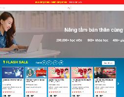 Source code website bán khóa học trực tuyến giống Unica edumail