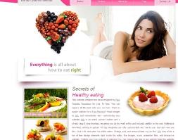 Free template Website bán hoa quả thiên nhiên